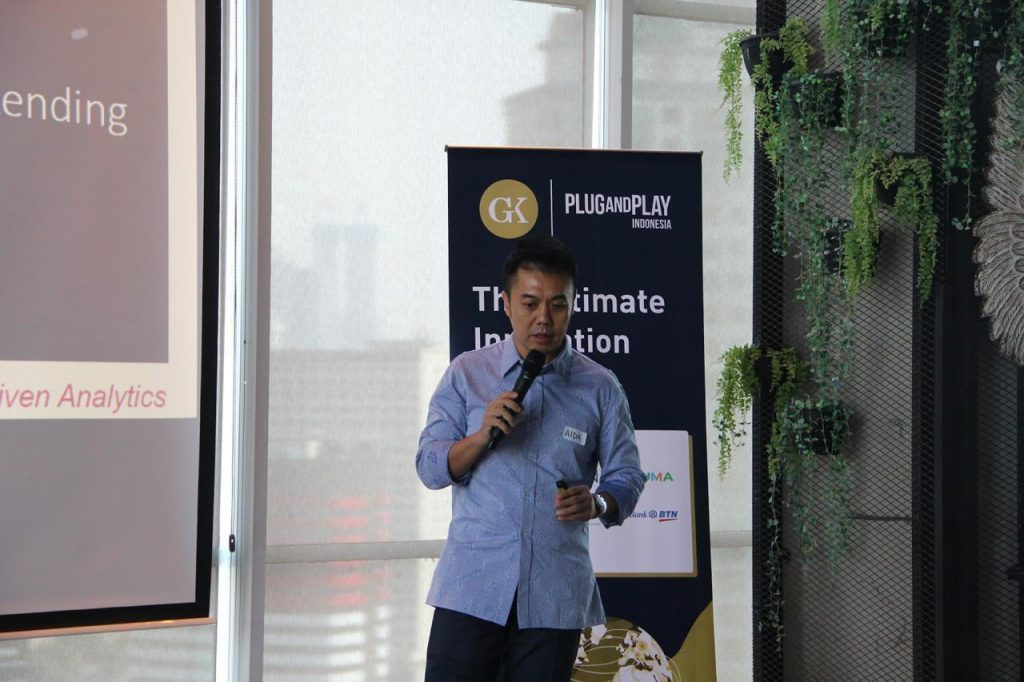 Dr. Andrew Ang, COO of AIDA Technologies, was selected by Plug and Play Indonesia to pitch to a list of banks and insurance companies - AiDA Technologies