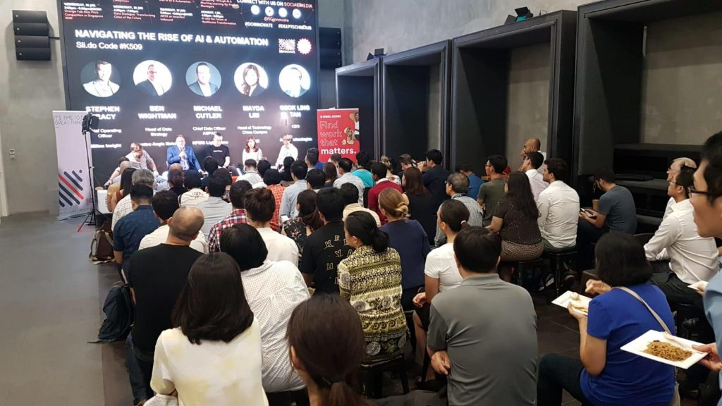 Dr. Geok Leng Tan, CEO of AIDA Technologies, spoke at the SGInnovate panel on 'Navigating Through the Rise of AI and Automation' - AiDA Technologies