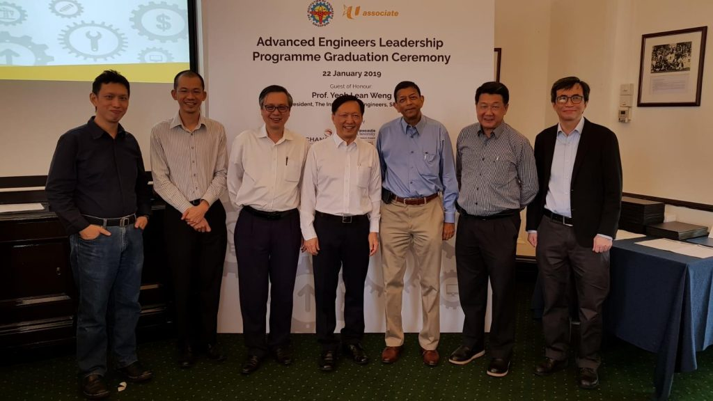 AIDA Technologies CEO, Dr, Geok Leng Tan (third, left), was one of the members of the judging panel for the IES/NTUC Advanced Engineering Leadership Programme - AiDA Technologies
